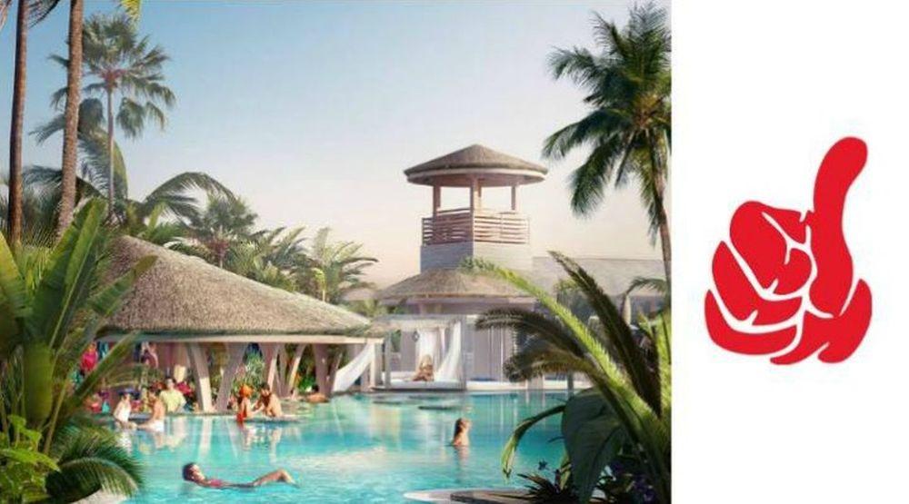 FOTO – Romania va avea CEA MAI MARE plaja urbana din Europa, cu piscina tropicala si peste 1500 de sezlonguri pe nisip!
